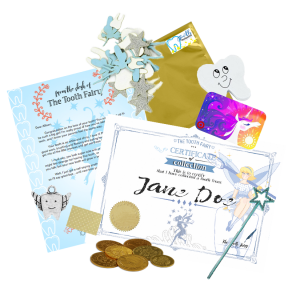 Tooth Fairy Angels Fairy Land Package. Includes Target Gift Card and Fairy Gifts.