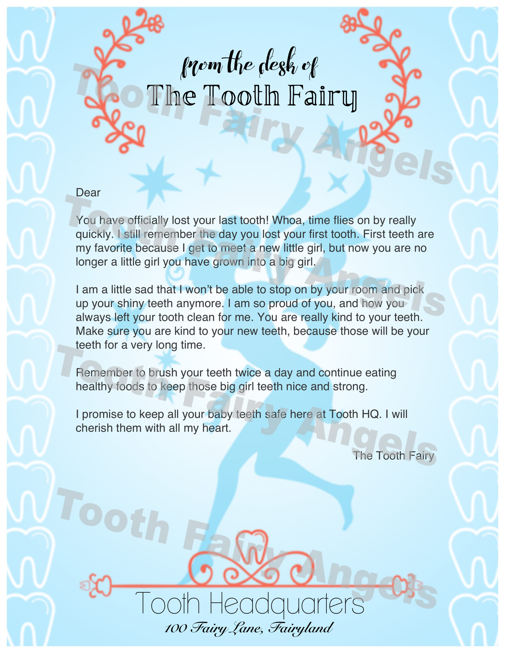 Top Result 50 Unique Letter From the tooth Fairy Template Pic 2018 ...